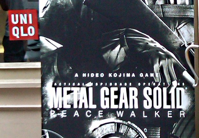 MGS Peacewalker signing UNIQLO