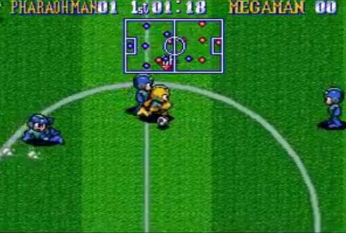 Mega Man Soccer Gameplay