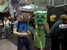 Minecraft cosplay PAX East 2011